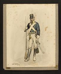 Smålands Husarer 1799, 1800 [Akvarell]