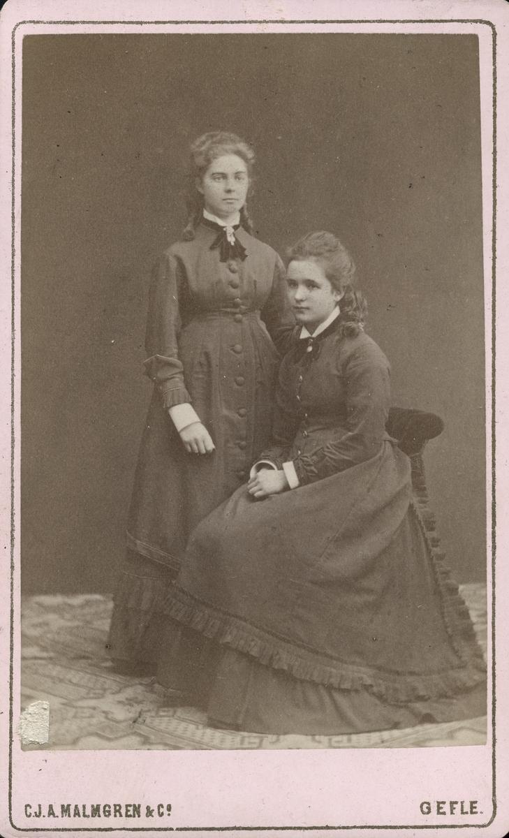 Clara Bäcklin och fröken Liljeström.