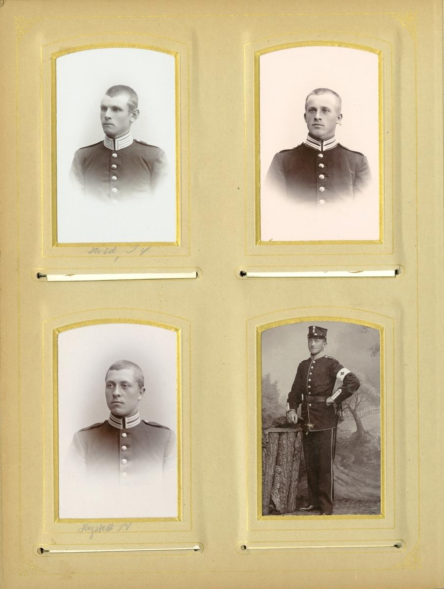 Porträtt av okänd soldat vid Wendes trängbataljon T 4.