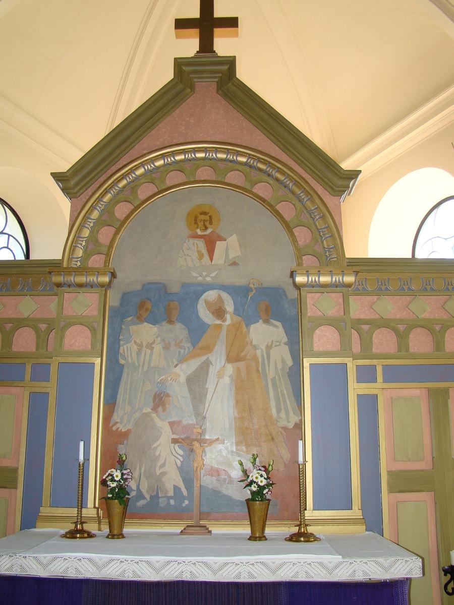 Sankt Sigfrids kyrka, Nybro pastorat. Altaruppsats.