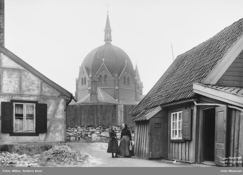 Fra Hammersborg i 1902. (Foto/Photo)