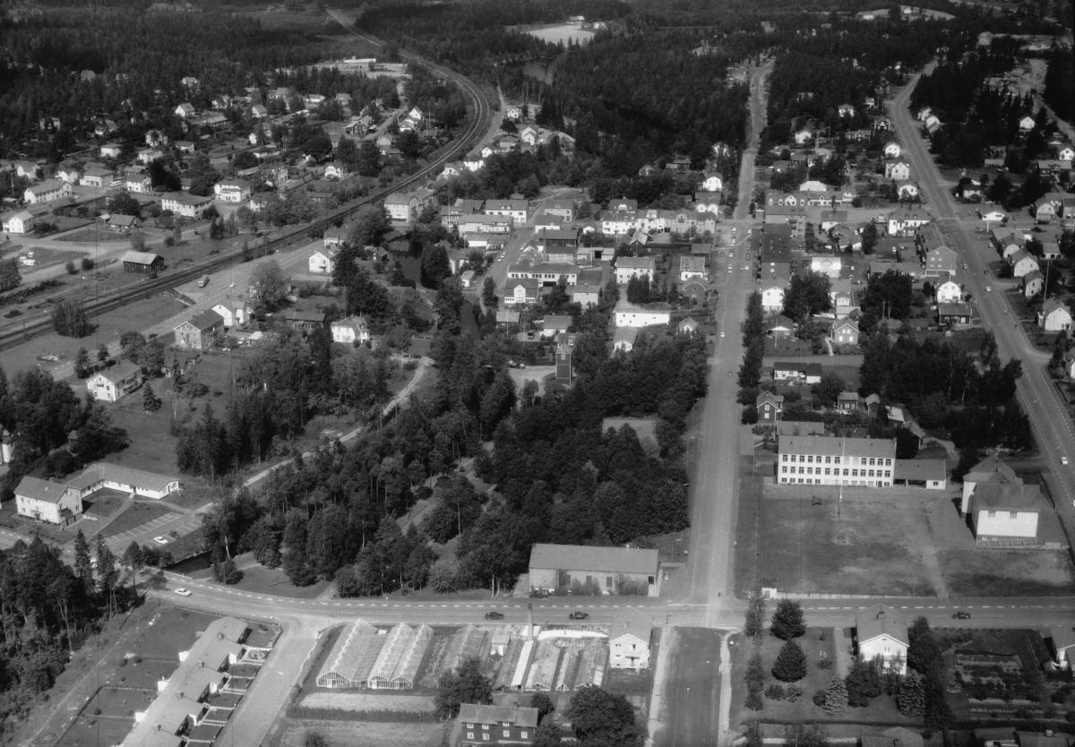 Flygfoto över Aneby i Jönköpings län 279/1969