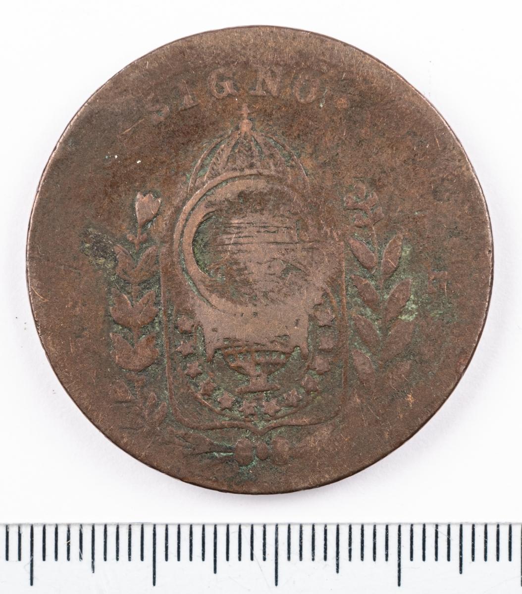 Mynt, Brasilien, 1829, 20 Reis