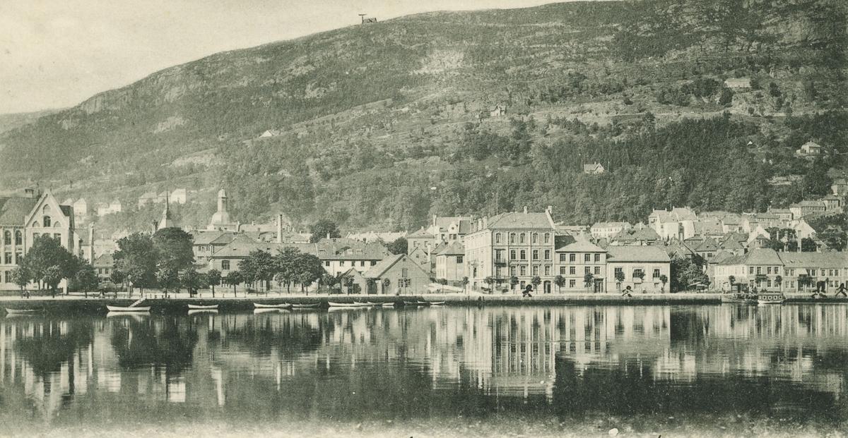 Bergen. Lille Lungegårdsvann. Utgiver: O. Svanøe. 1905.
