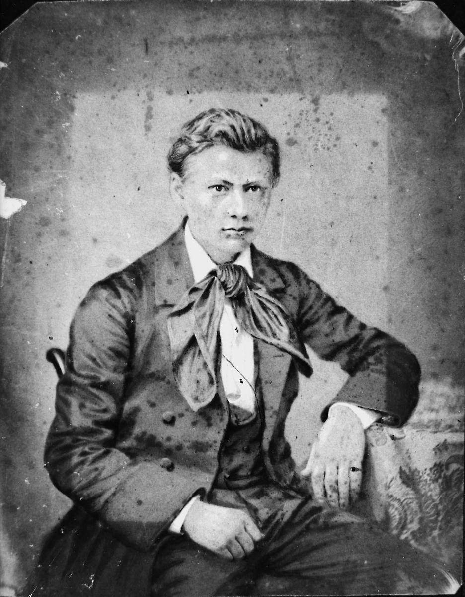 Portrett, Bjørnstjerne Bjørnson, ung mann