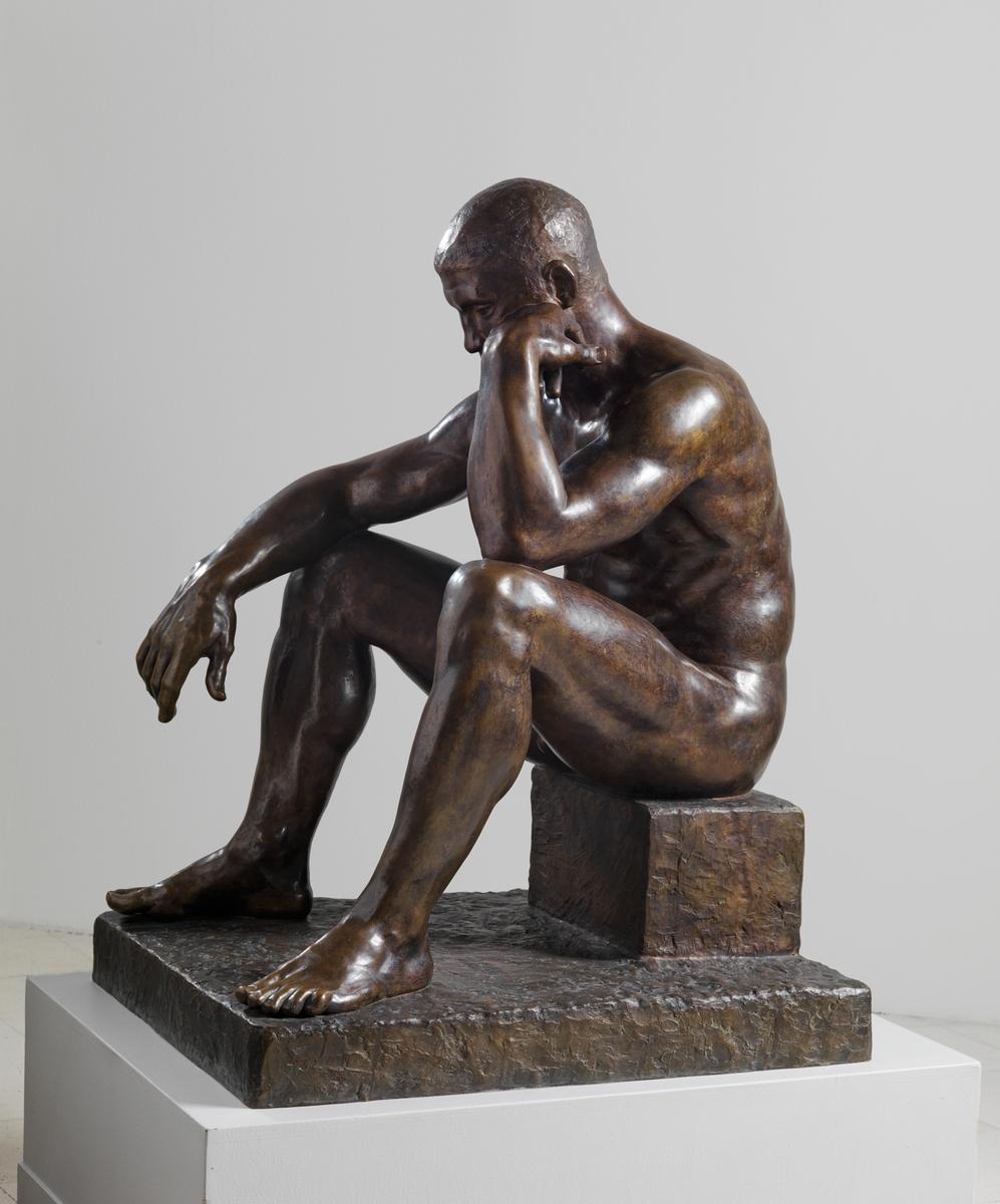 Sittende atlet [Statue]