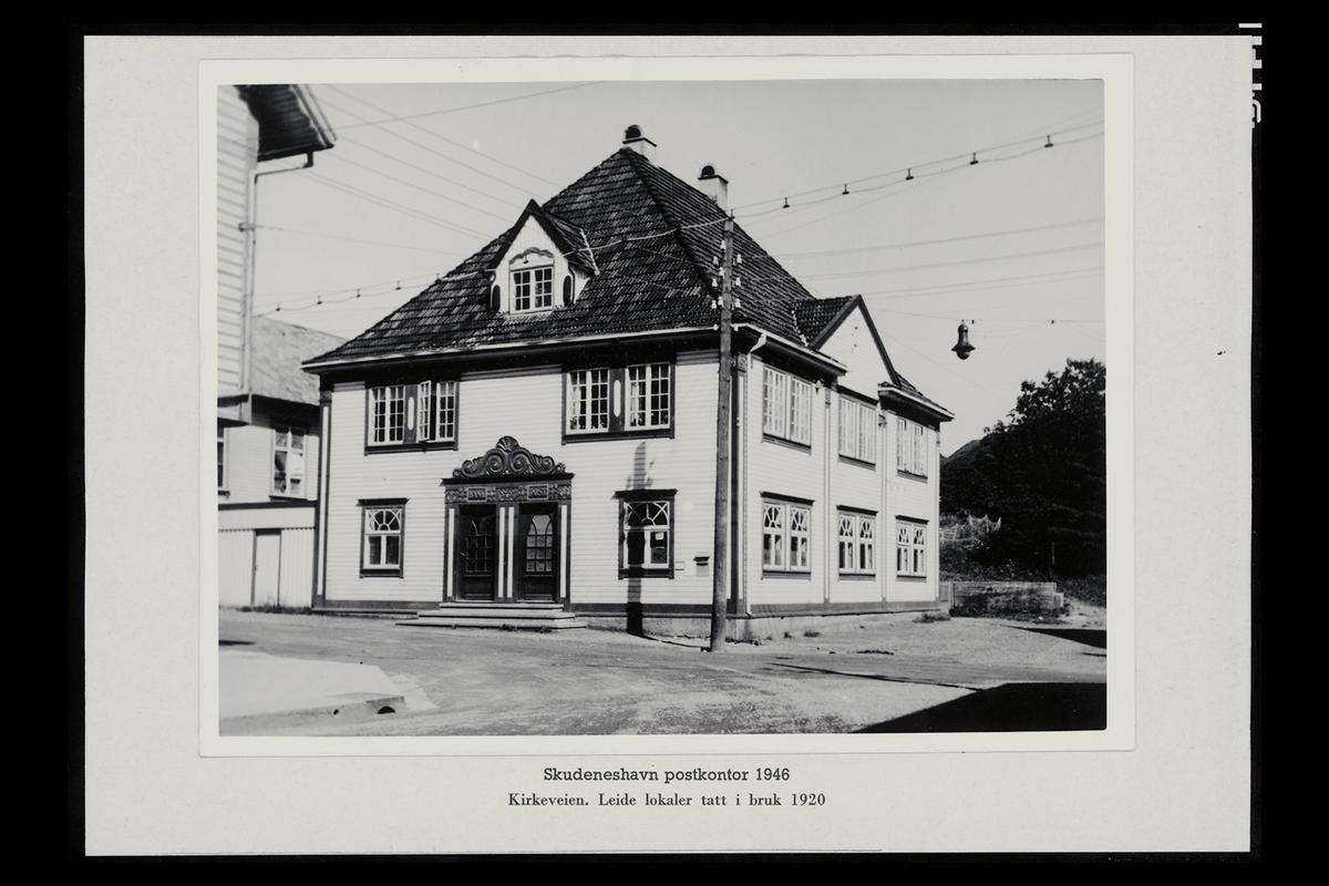 eksteriør, postkontor, 4280 Skudeneshavn, postskilt