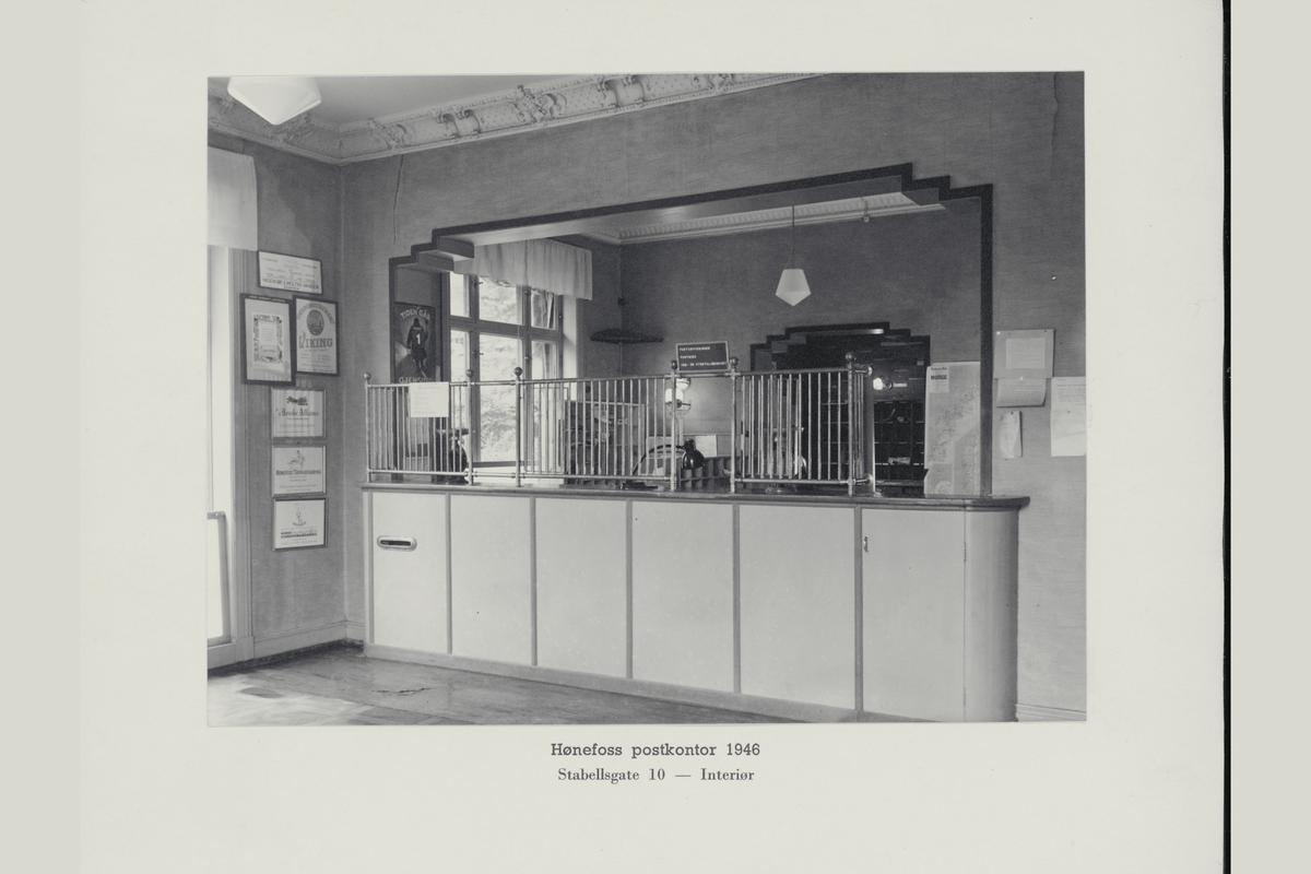 interiør, postkontor, 3500 Hønefoss, publikumshall