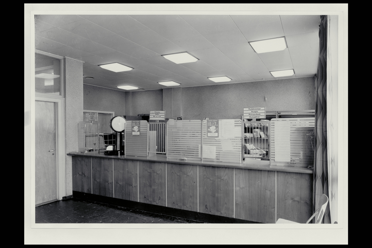 interiør, postkontor, 5050 Nesttun, publikumshall, vekt