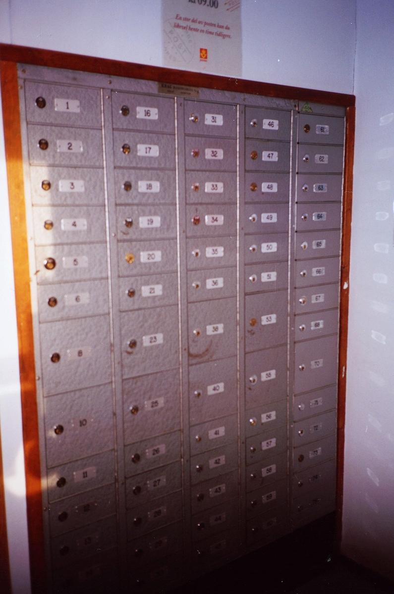 interiør, postkontor, 0137 Bekkelaget, postbokser