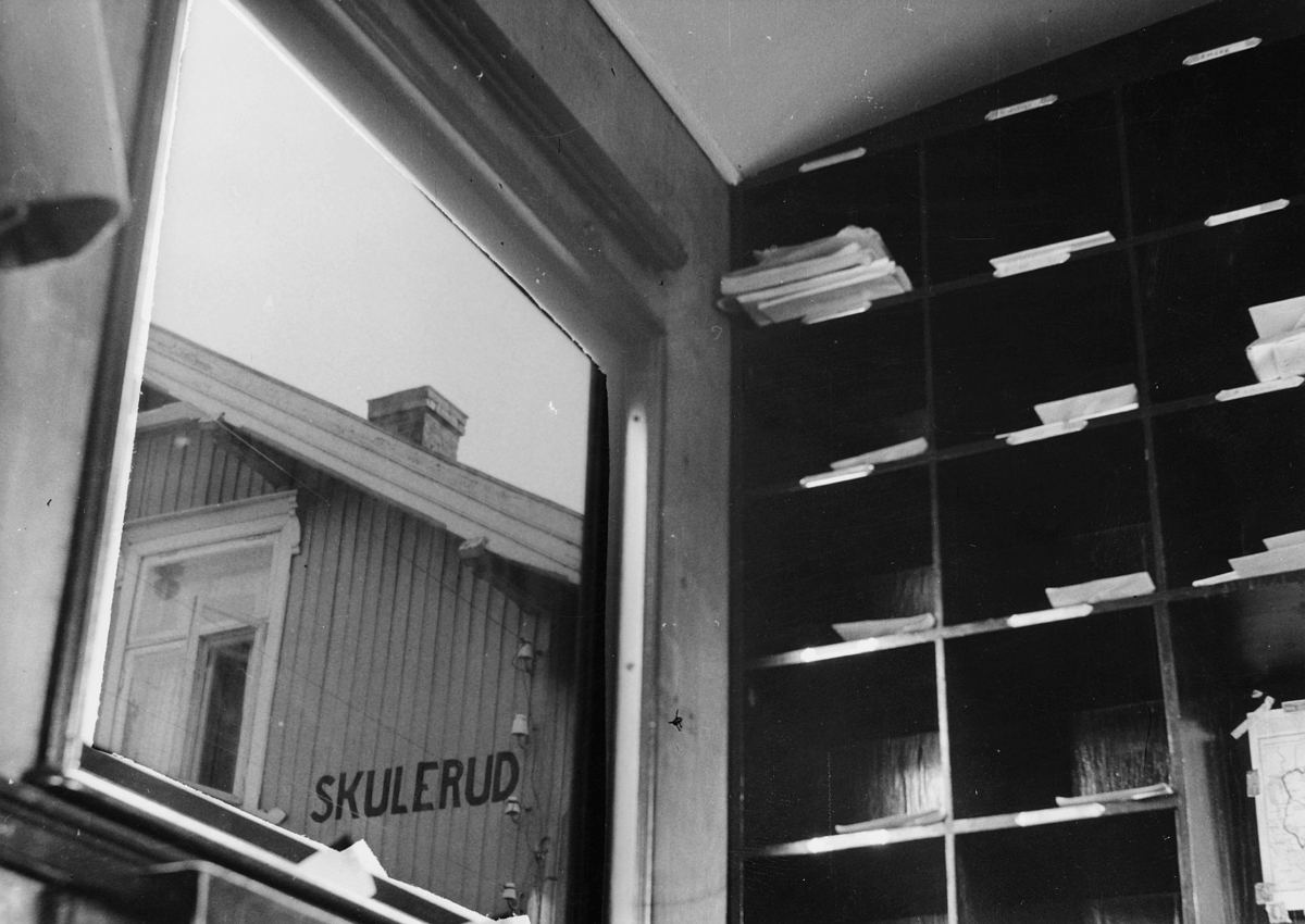 transport, tog, Hølandsbanen, Skulerud stasjon, interiør