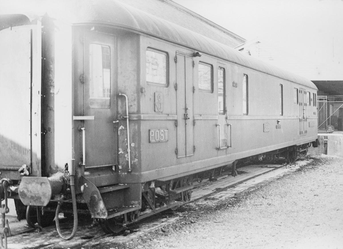 transport, tog, Bergensbanen, postvogn