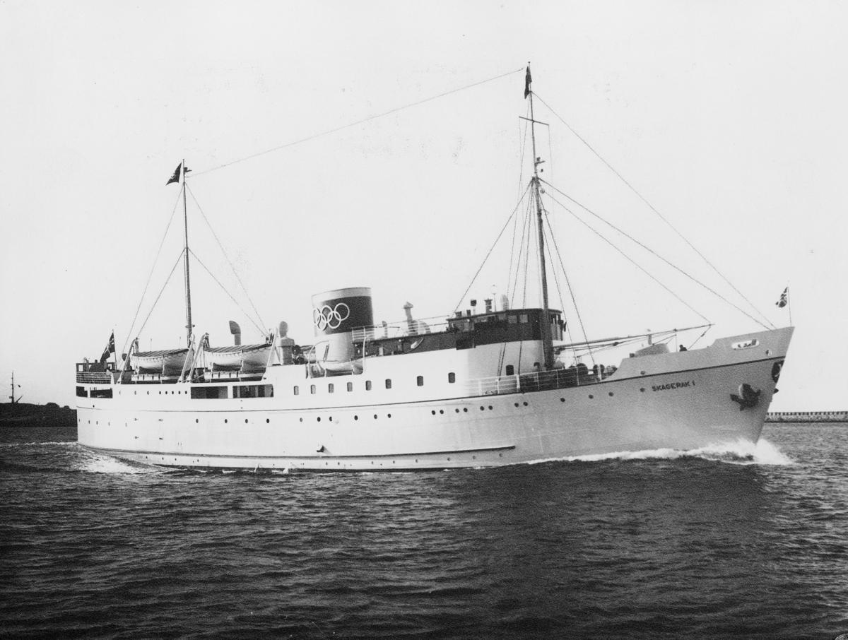 transport båt, eksteriør, M.s Skagerak I, Kristiansand-Hirtshals