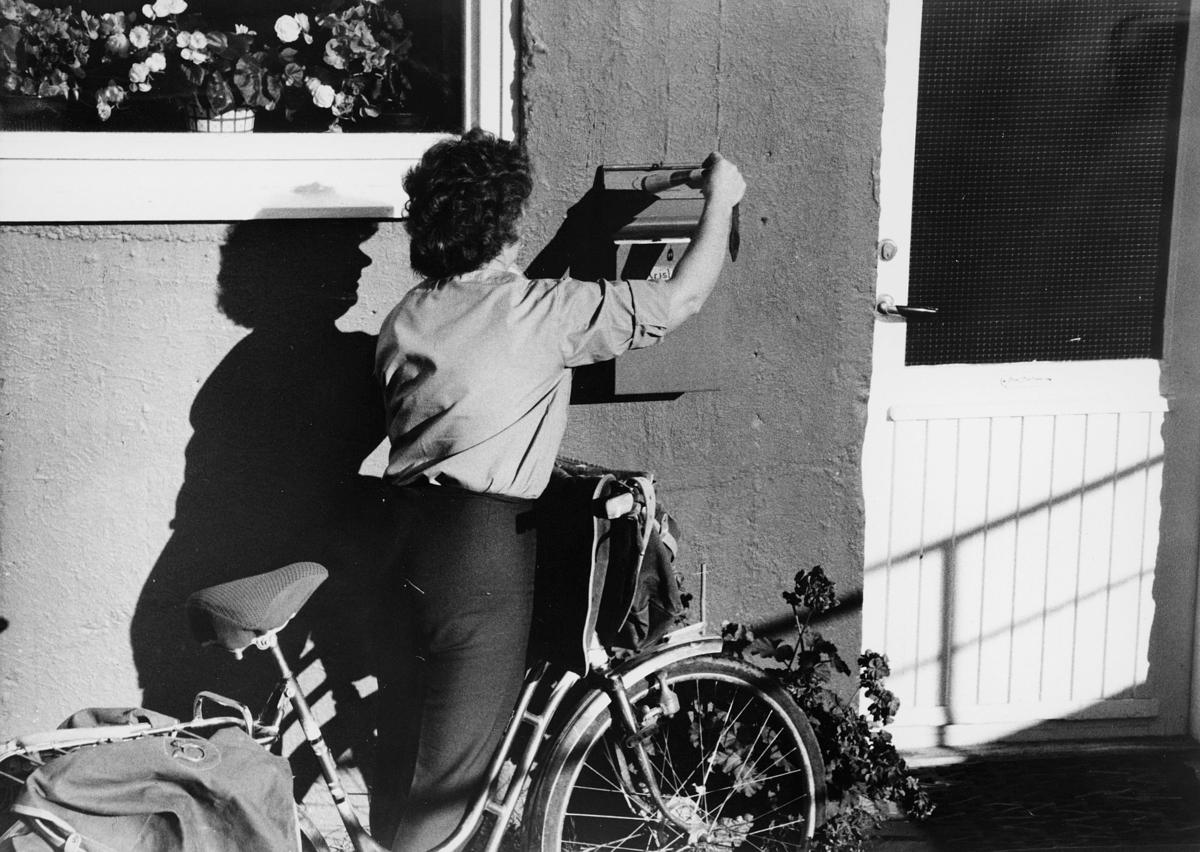 omdeling, postbud, postkasse, sykkel