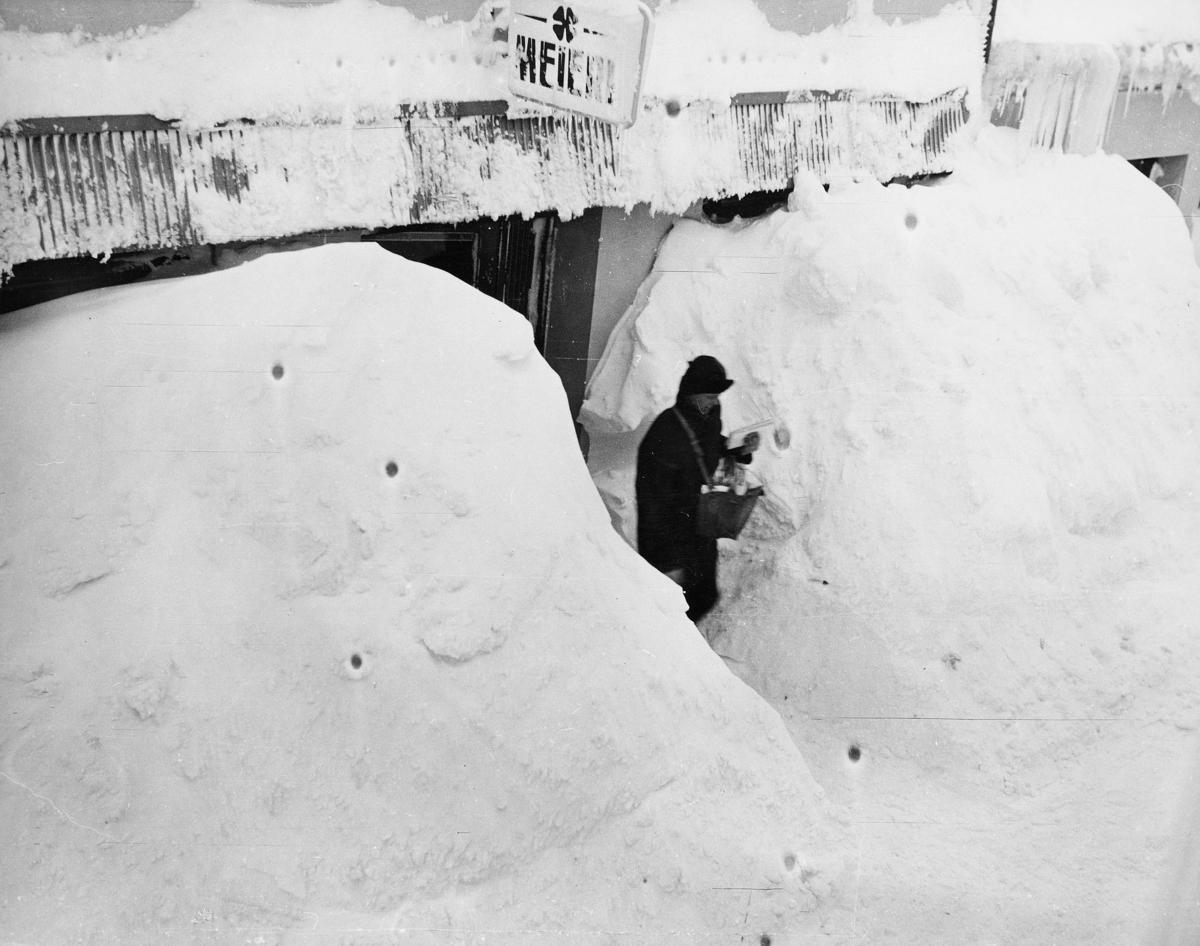 omdeling, postbud, vinterbilde