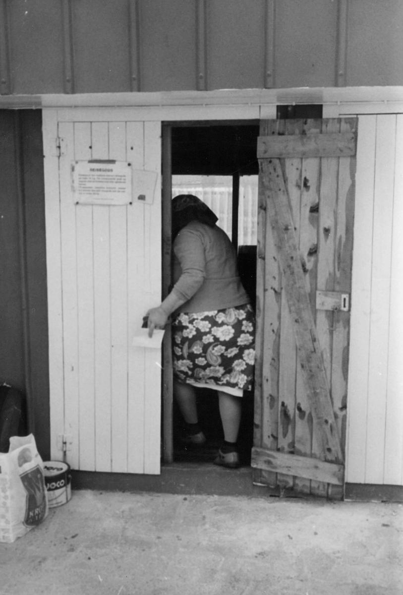 omdeling, utlevering av post, kvinne, 7. postdistrikt