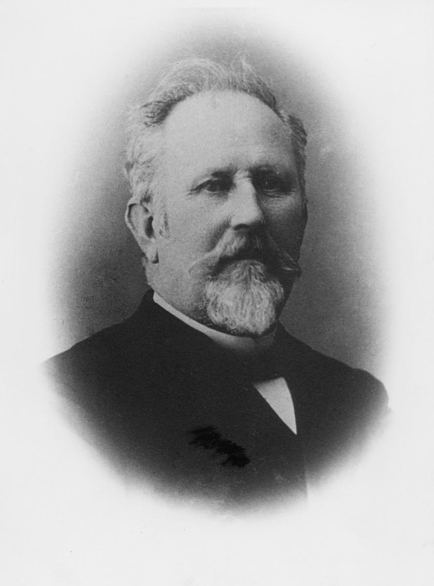 portrett, postmester, stedfortreder, Fridtjof Alfred Henriksen