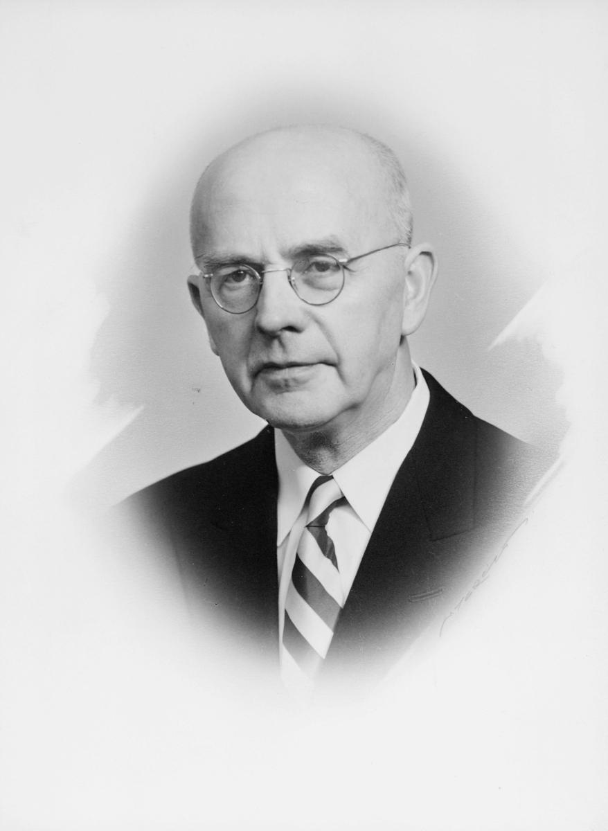 postmester, Austad Hans Jacob, portrett