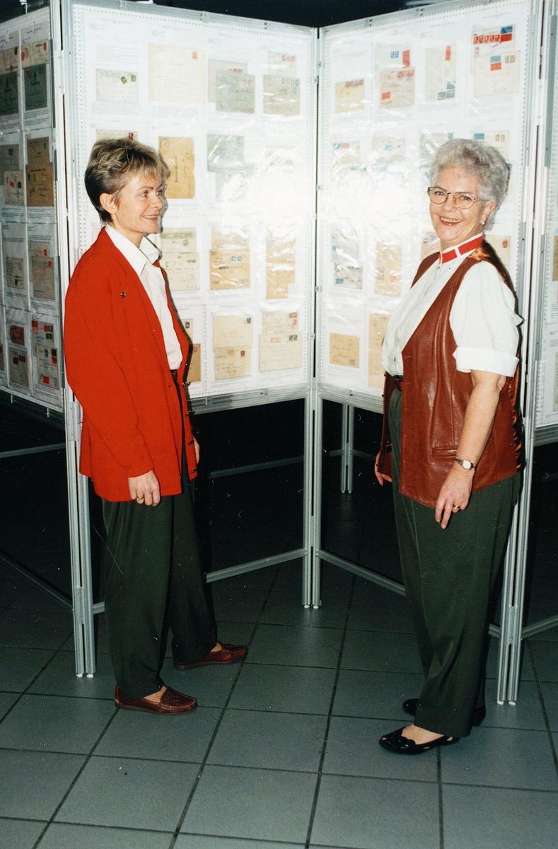 markedsføring, postkontor, Sola, frikmerkeutstilling, to kvinner