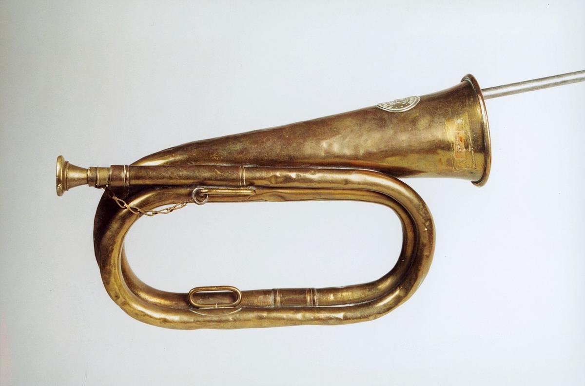Postmuseet, gjenstander, posthorn, trompettype, lenke.