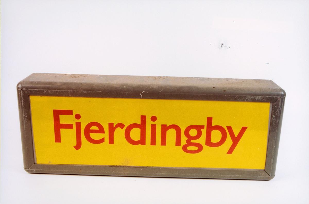 postmuseet, gjenstander, skilt, stedskilt, stedsnavn, Fjerdingby