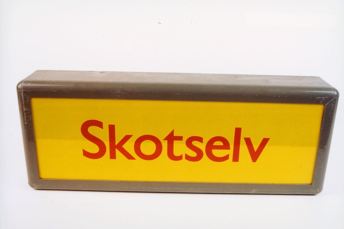 postmuseet, gjenstander, skilt, stedskilt, stedsnavn, Skotselv