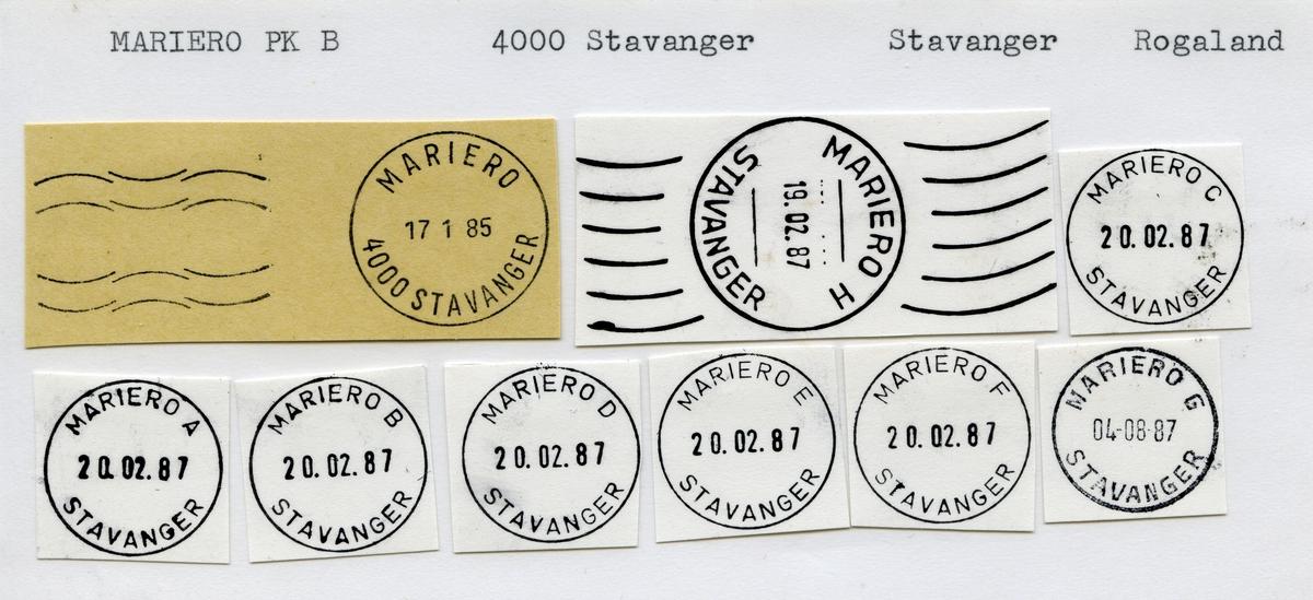 Stempelkatalog, Mariero, Stavanger kommune, Rogaland