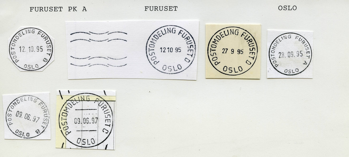 Stempelkatalog.Furuset, Adm.avd, Oslo postdistrikt, Oslo