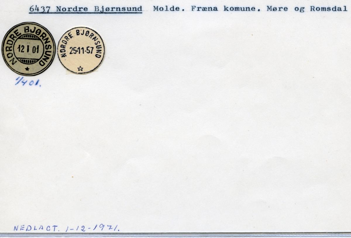Stempelkatalog 6437 Nordre Bjørnsund, Molde, Fræna, Møre og Romsdal