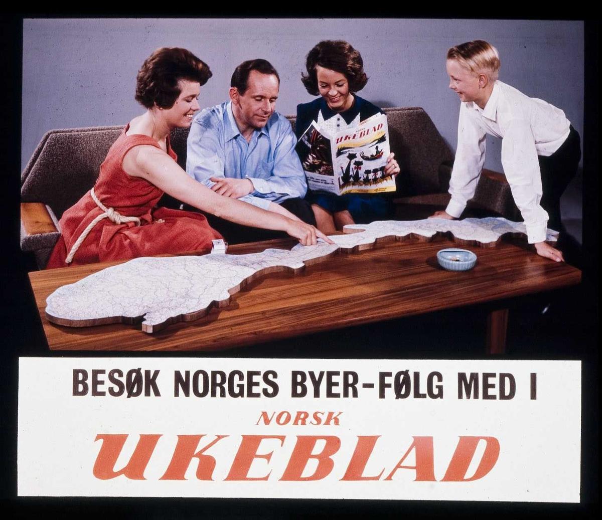Kinoreklame fra Ski for Norsk Ukeblad. Besøk Norges byer - følg med i Norsk Ukeblad