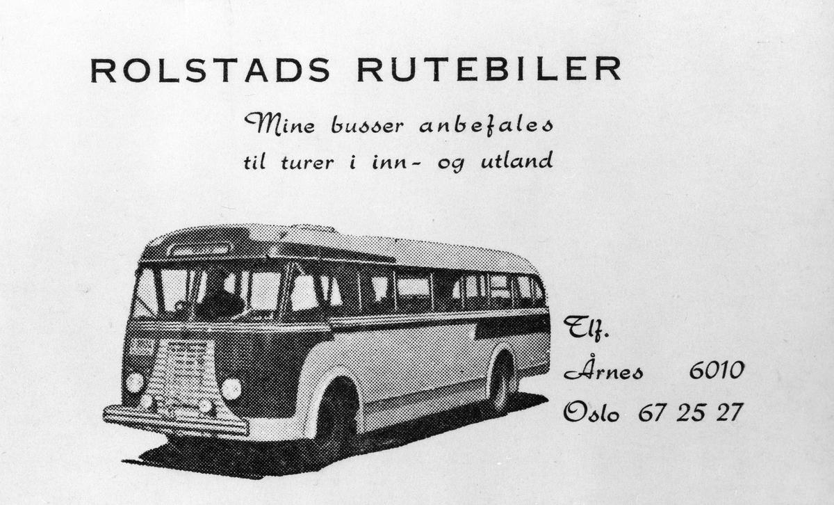 Visitkort for Rolstads bilruter