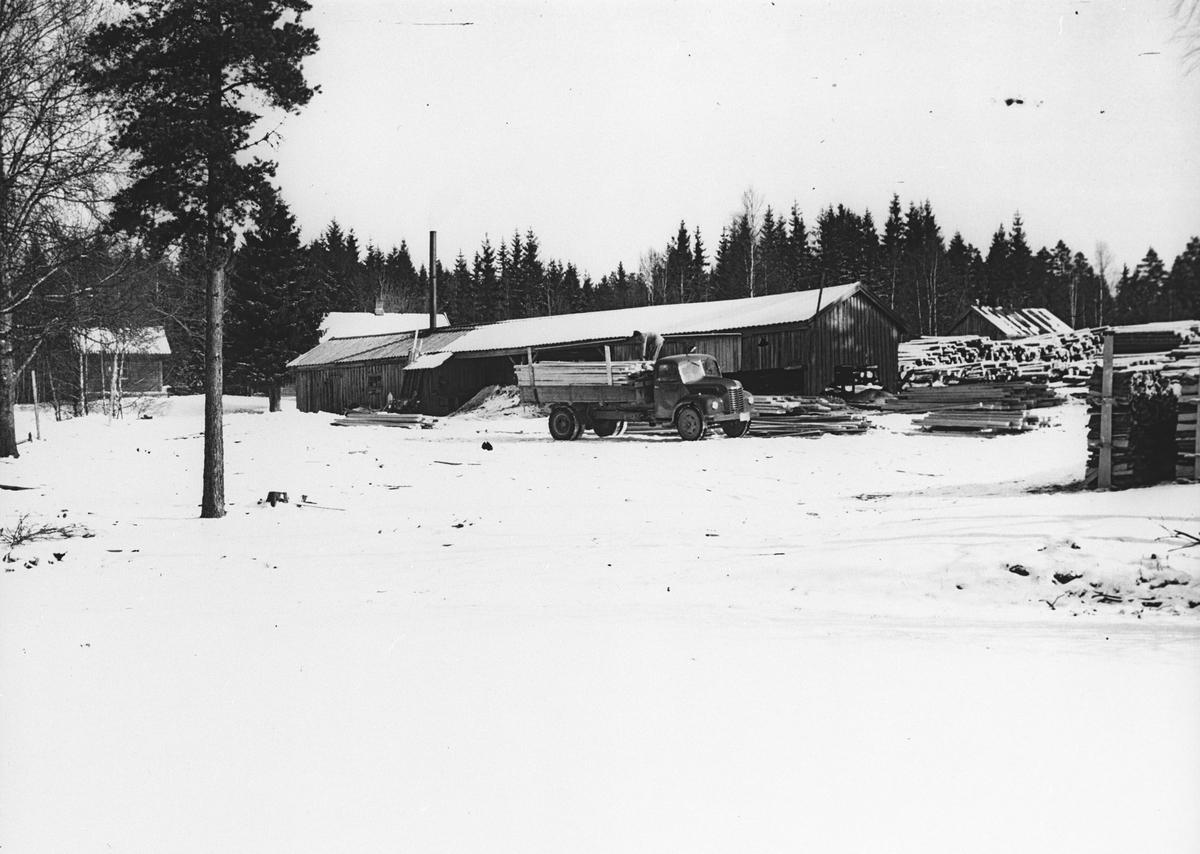 Fra sagbruket v/Klodsboddingfallet (Nordfallet). Mars 1952.