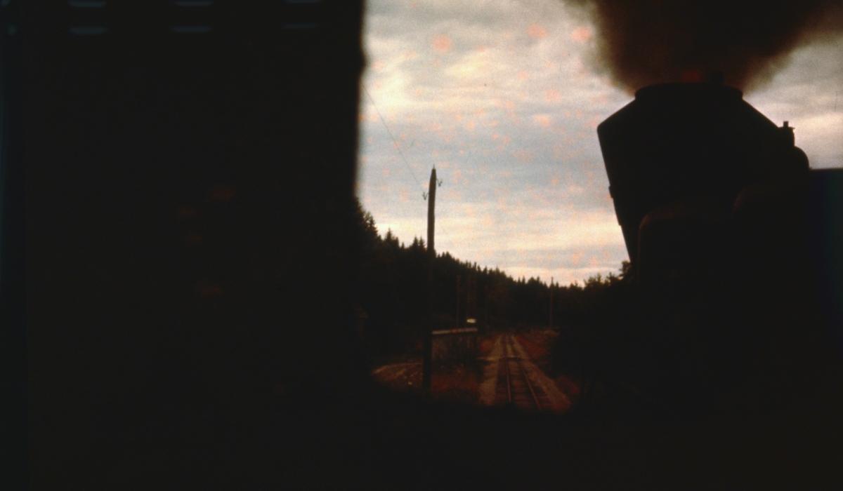 Utsikt fra fyrbøterplassen på lok 7 Prydz