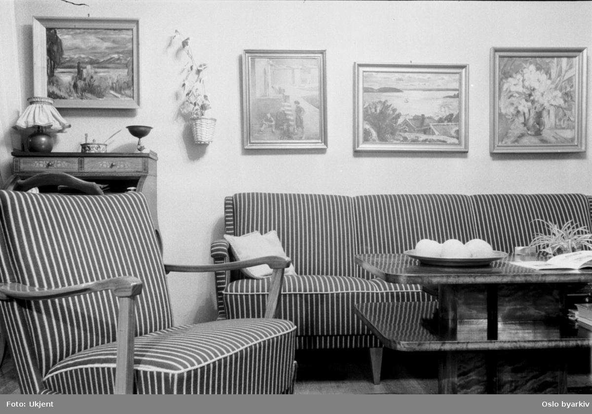 Møblering av stue, salong, oppholdsrom