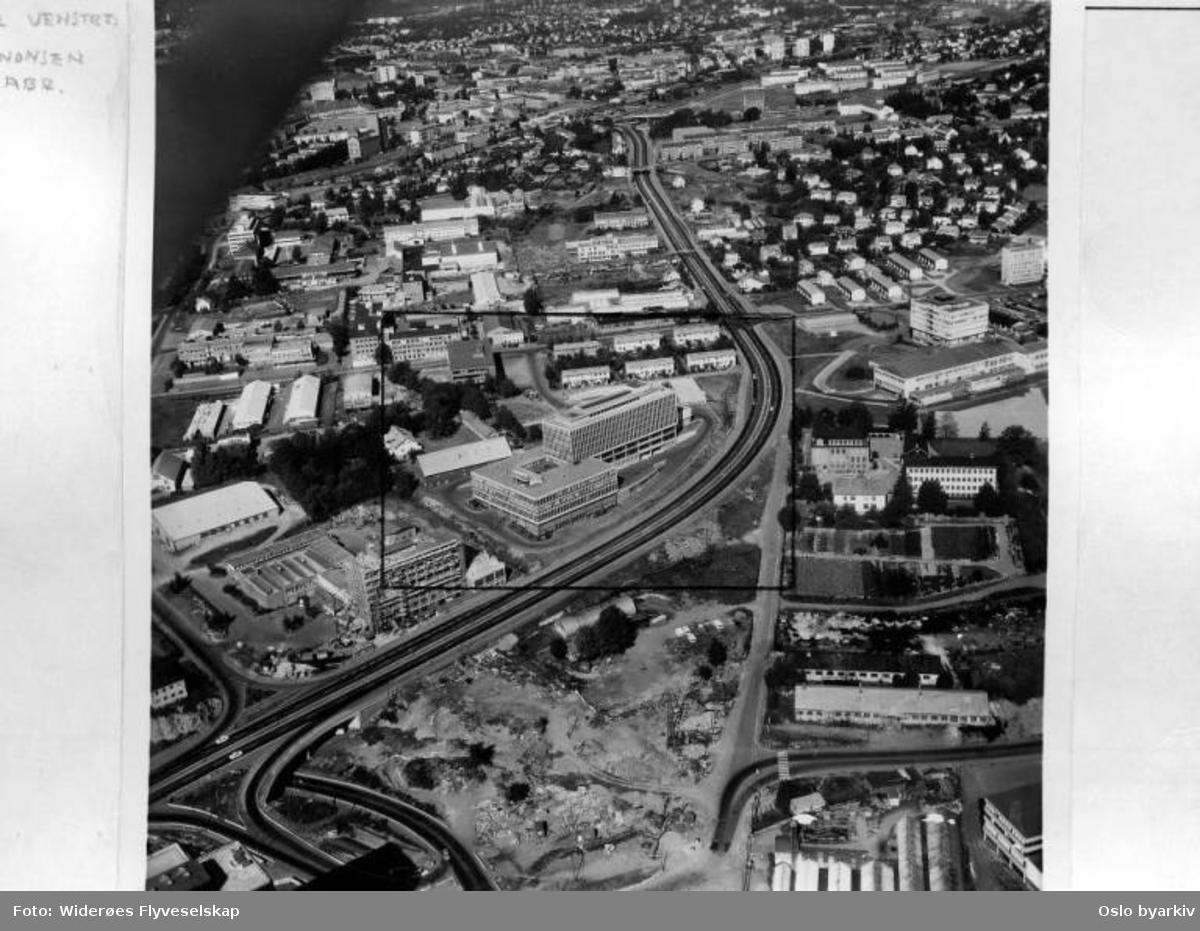 Nordia trestandard A/S, Lørenfaret, Sinsen (Flyfoto)