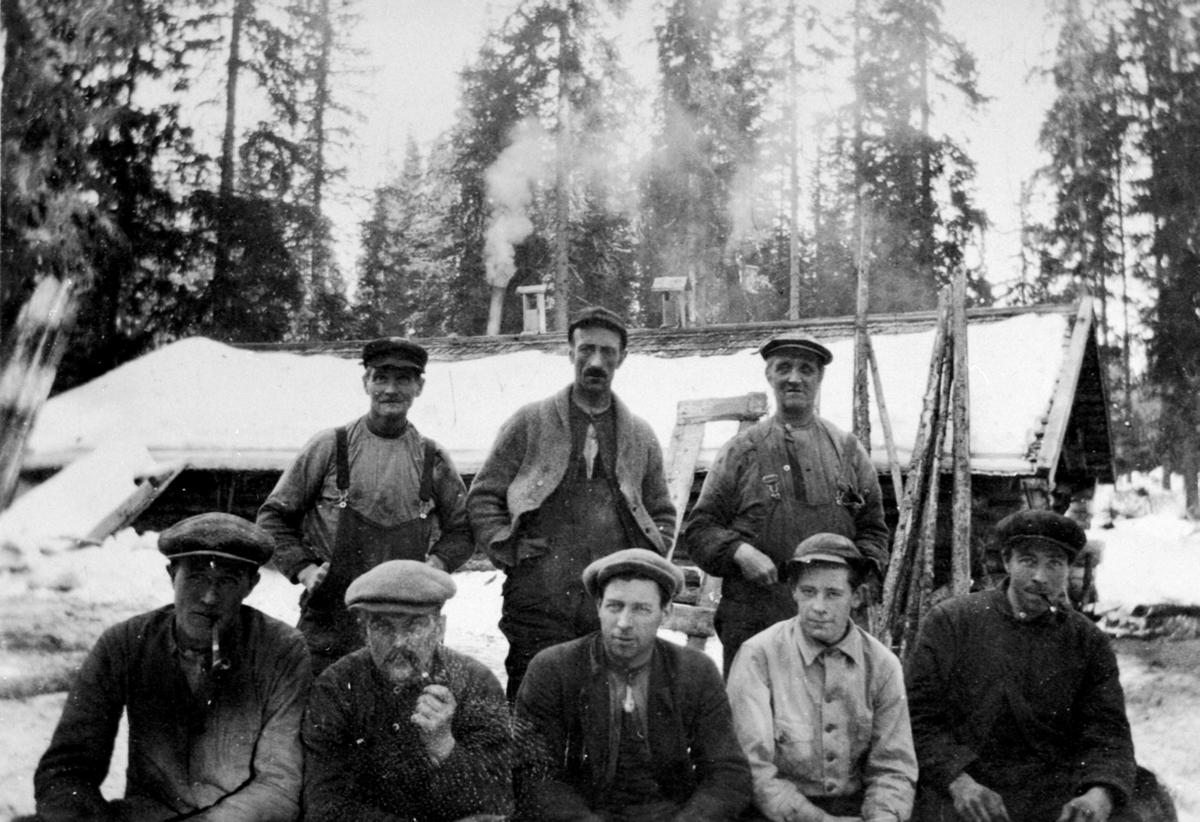 Tømmerhuggere og kjørere i Philske Sameie, Ringsaker.