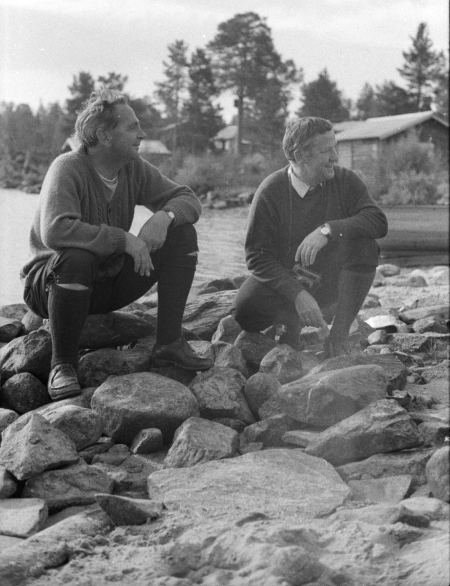 Dagfinn Grønoset (til høyre) og Haugsetvolden, Simen.