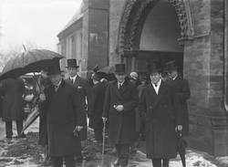Dr. Bryhns begravelse fra Domkirken