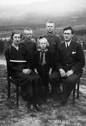 Familiebilde - Martin Kjønsberg med familie
