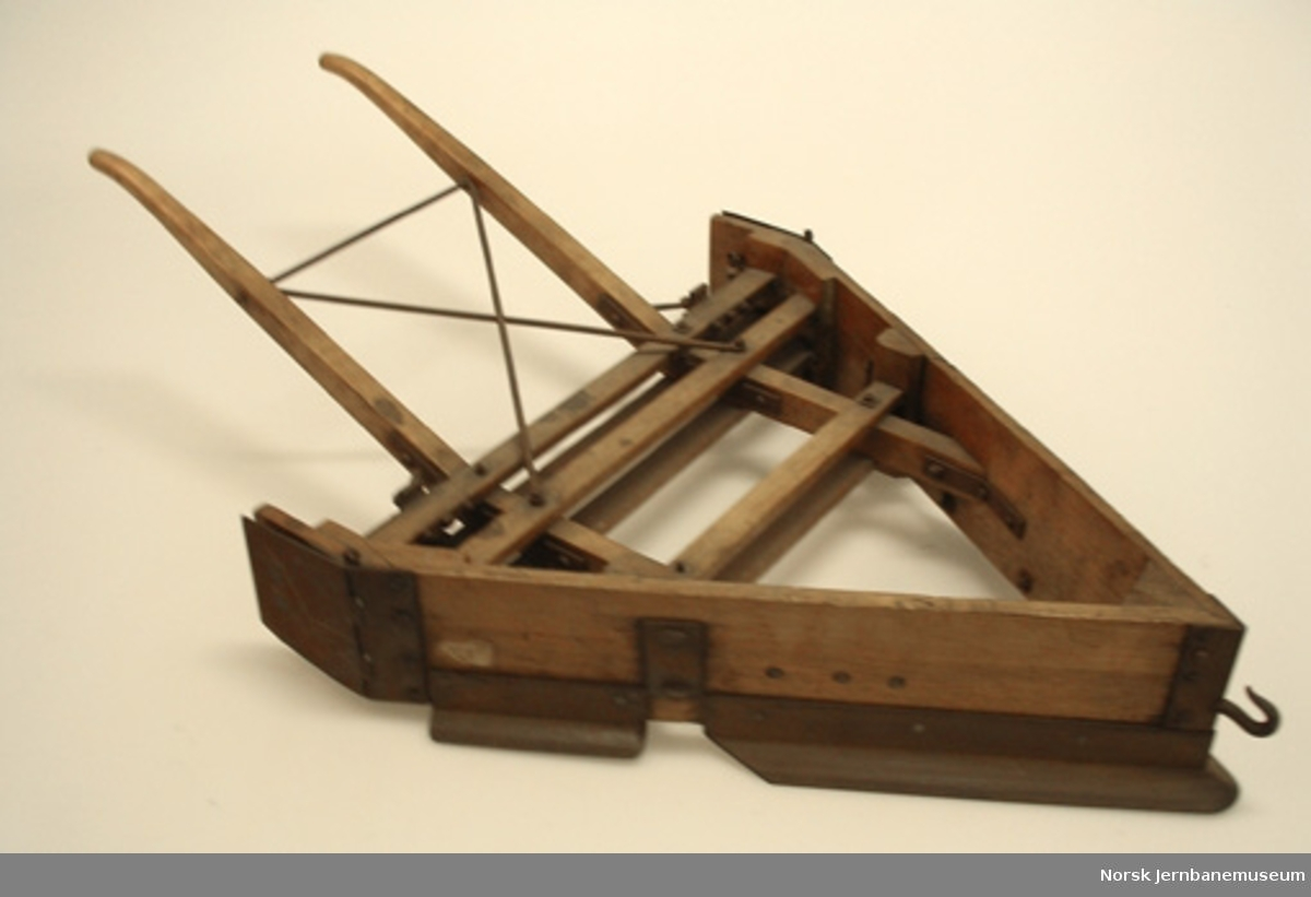 Modell av sporrenser for hestedrift