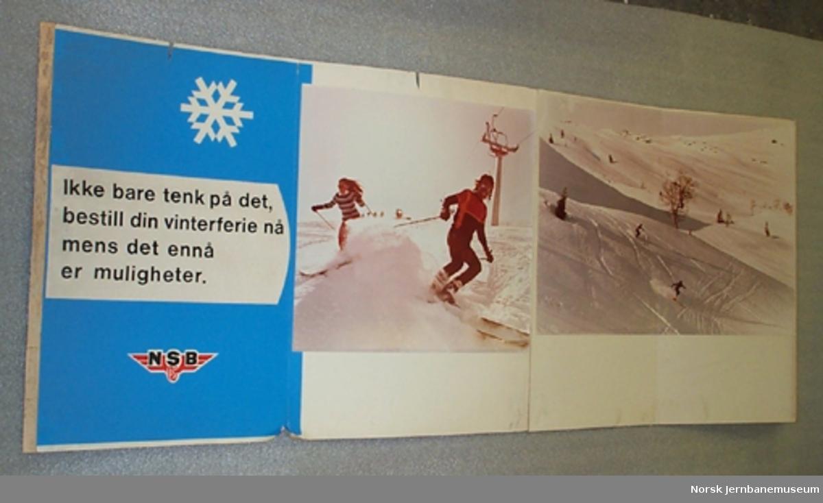 Reklamemateriell for NSB Reisebyrå : Vinterferie