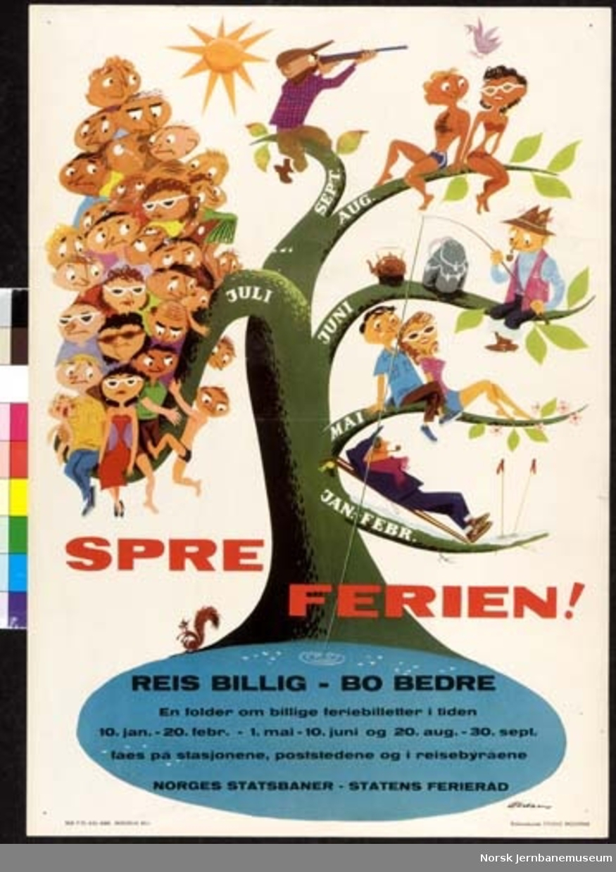 Plakat : Spre ferien! (billige feriebilletter)