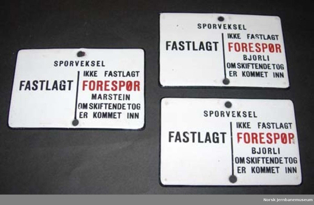 Skilt fra Verma stasjon om sikring av sporveksler