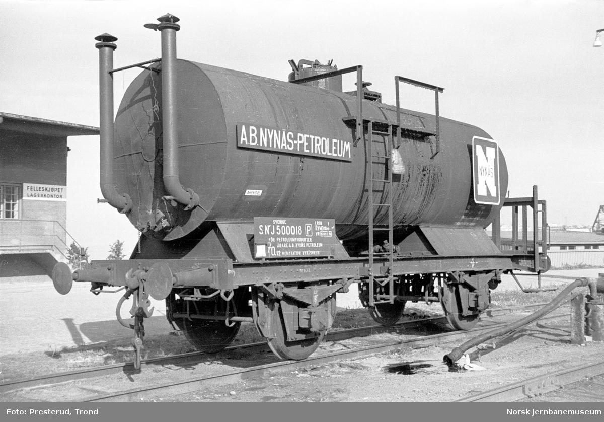 Svensk tankvogn SNJ litra Q12 nr. 500018