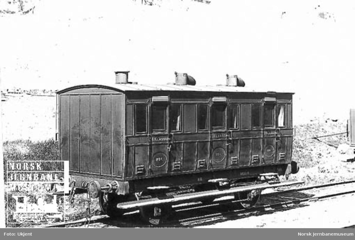 Kongsvingerbanens karet litra AB nr. 119