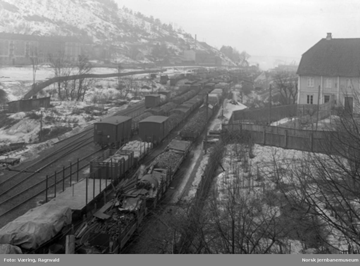 Oversiktsbilde fra skiftestasjonen på Loenga, sett fra Oslo gate