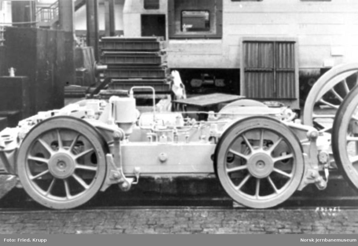 Byggingen av damplokomotiv type 49c, bakre boggi