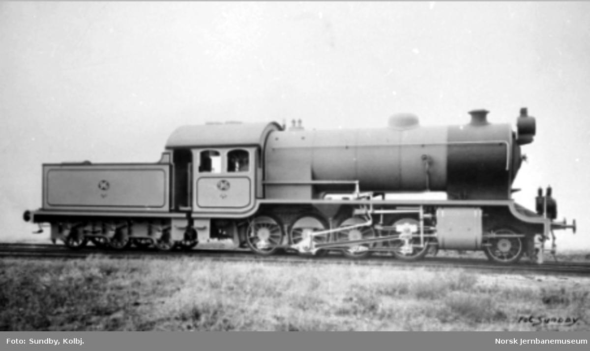 Hovedbanens damplokomotiv litra H nr. 96 ved leveransen