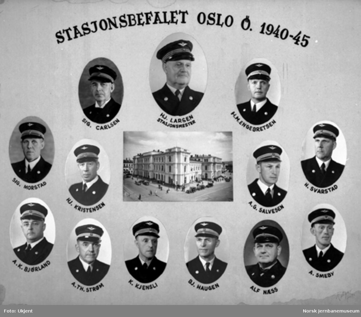 Gruppebilde av stasjonsbefalet Oslo Ø 1945-1950