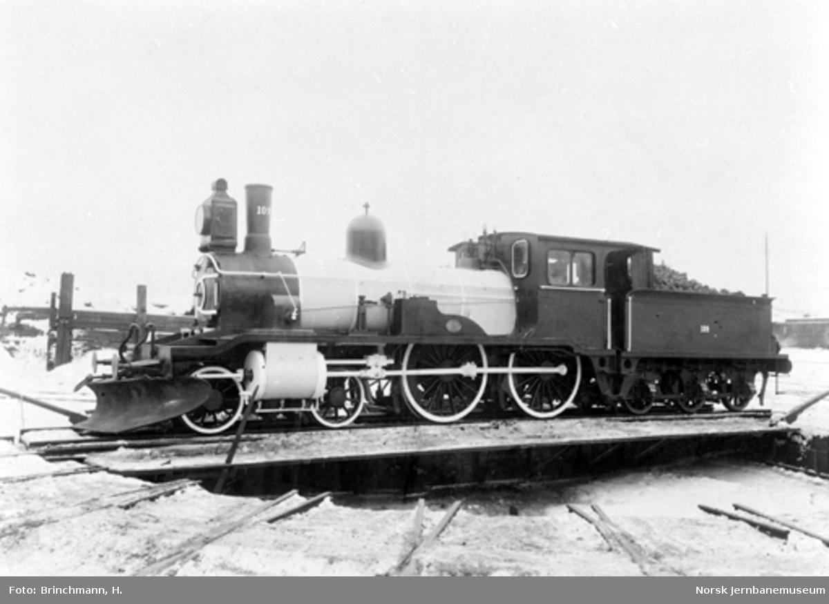 NSBs damplokomotiv type 16a nr. 109 som nytt